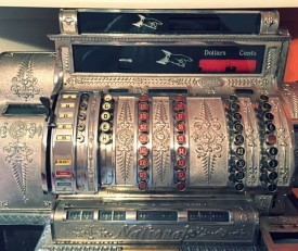 finished nickel cash register