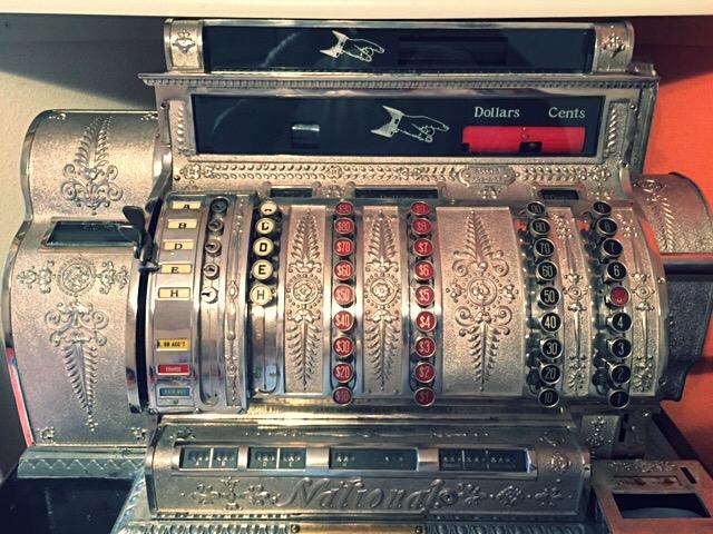 finished nickel cash register